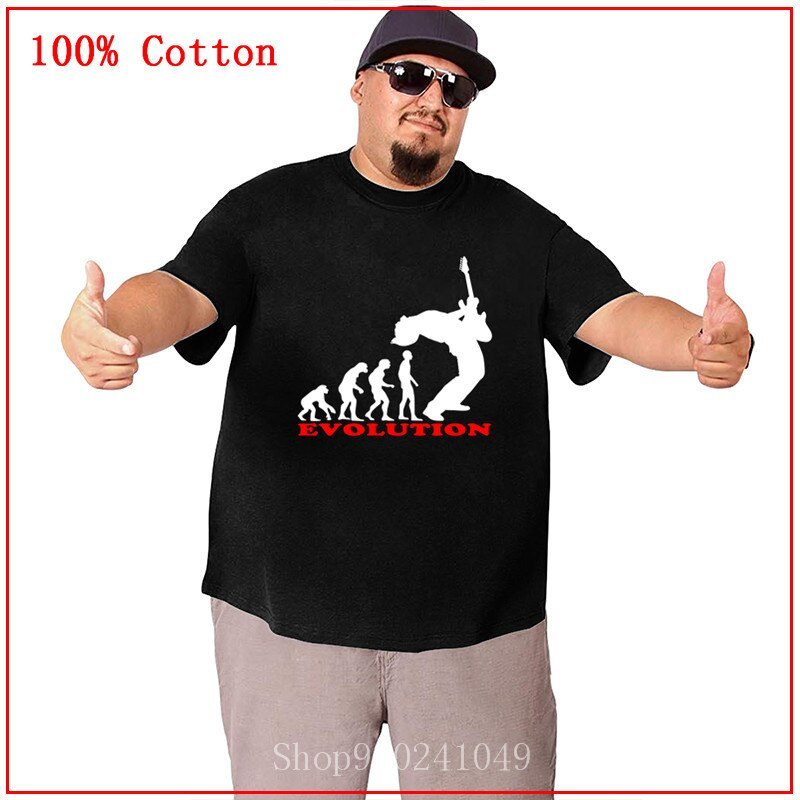 Evolution of Man Bass Guitar Player-Camiseta para hombre Camiseta básica con estampado de gran tamaño camiseta para hombre Tops calientes de manga corta Camiseta para hombre