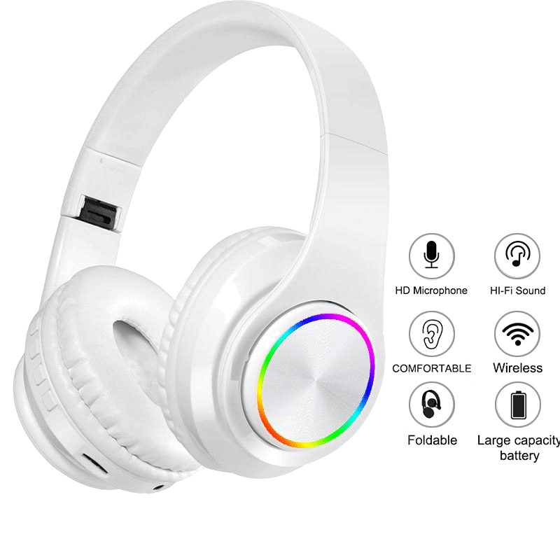 New Wireless Headphones Headset Foldable Stereo Headphone Gaming Earphones With Microphone For PC Mobile Phone Mp3 yijee cat ear led headphones with led flashing glowing light headset gaming earphones for pc computer and mobile phone