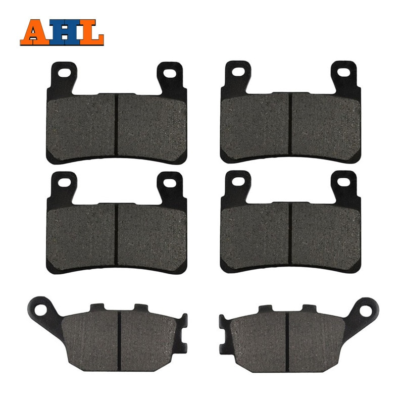 motorcycle parts front and rear brake pads discs kit for for cbr 600 f4 f4i motorcycle accessories AHL Motorcycle Front and Rear Brake Pads For Honda CBR 600 F4 F4i CBR929 CBR954 FIREBLADE CBR900 RR VTR 1000 SP-1 (SP45) CB1300
