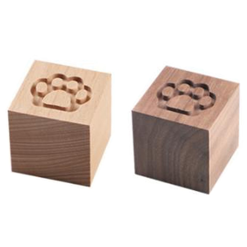 Difusor de coche de madera maciza creativo gato garra nogal haya fragancia portátil madera difusa creativa madera
