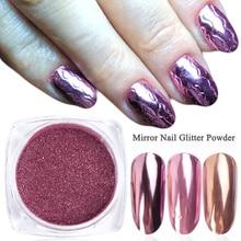 0.5G Nail Glitter Wrijven Spiegel Pigment Poeder Diping Rose Gold Holografische Nail Art Chrome Manicure Decoraties Stof Lec/ASX-1