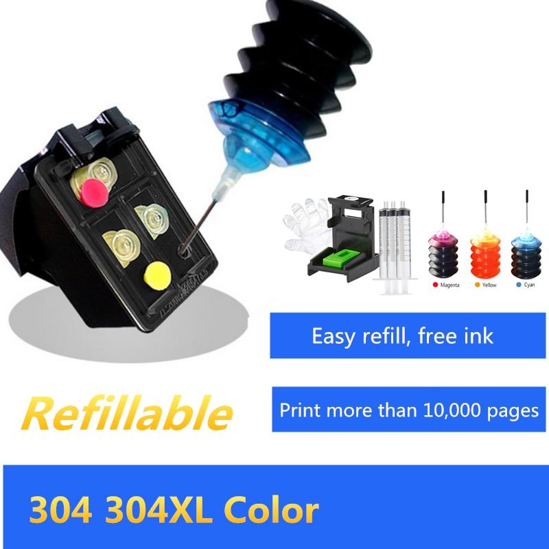 GraceMate 304, repuesto para HP304 304XL, cartucho de tinta para impresora HP Deskjet 3720 3721 3723 3724 3730 3732 3752 3755 3758