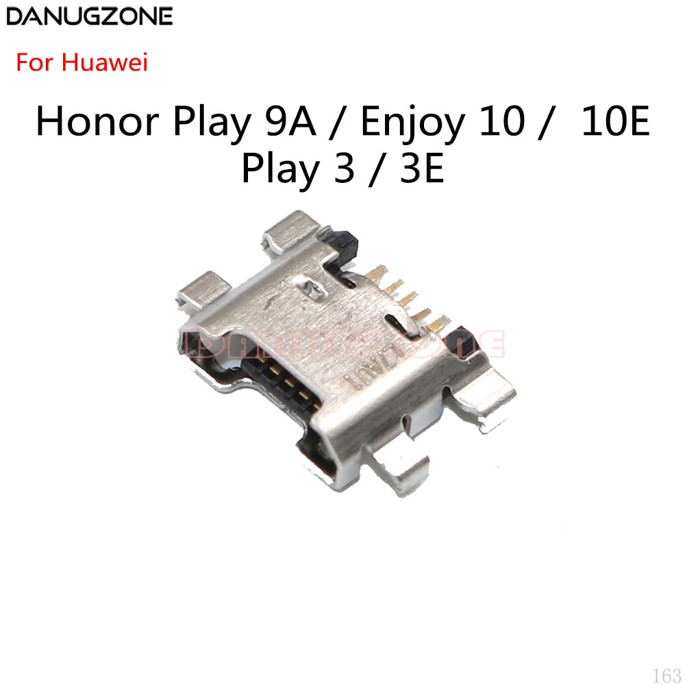100 unids/lote para Huawei Honor Play 9A / Enjoy 10 10E / Honor Play 3 3E puerto de carga USB conector Jack