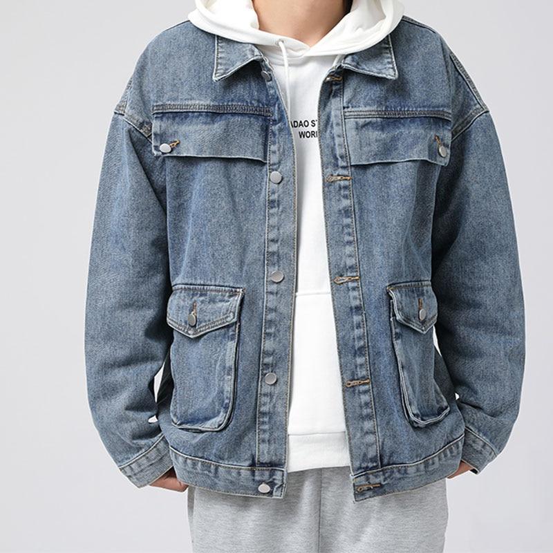 Fashion Denim Jeans Cotton 2021 New Jackets men jeans Outsidewear Spring Autumn Korean coats jackets Streetwear Casual Vintage