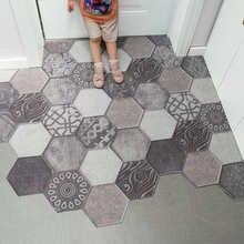 Ins Doormat Non-slip Waterproof Dustproof Carpet Hallway Bath Mat PVC Kitchen Mat Can Be Cut Custom Indoor Home Entrance Doormat