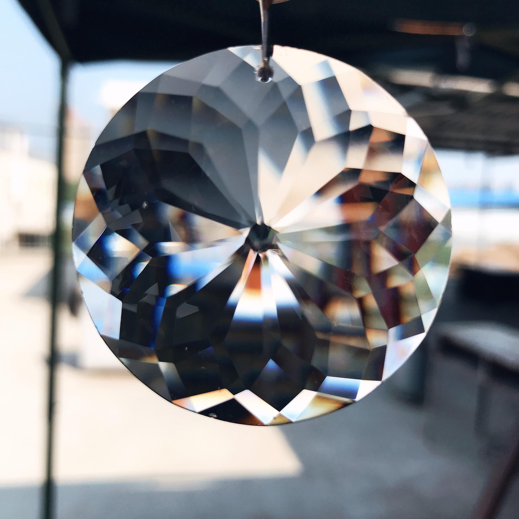 Призмы люстры режущие Подвески Diy призмы части проекты орнамент 45 мм солнце стеклянная кристаллическая Призма люстры