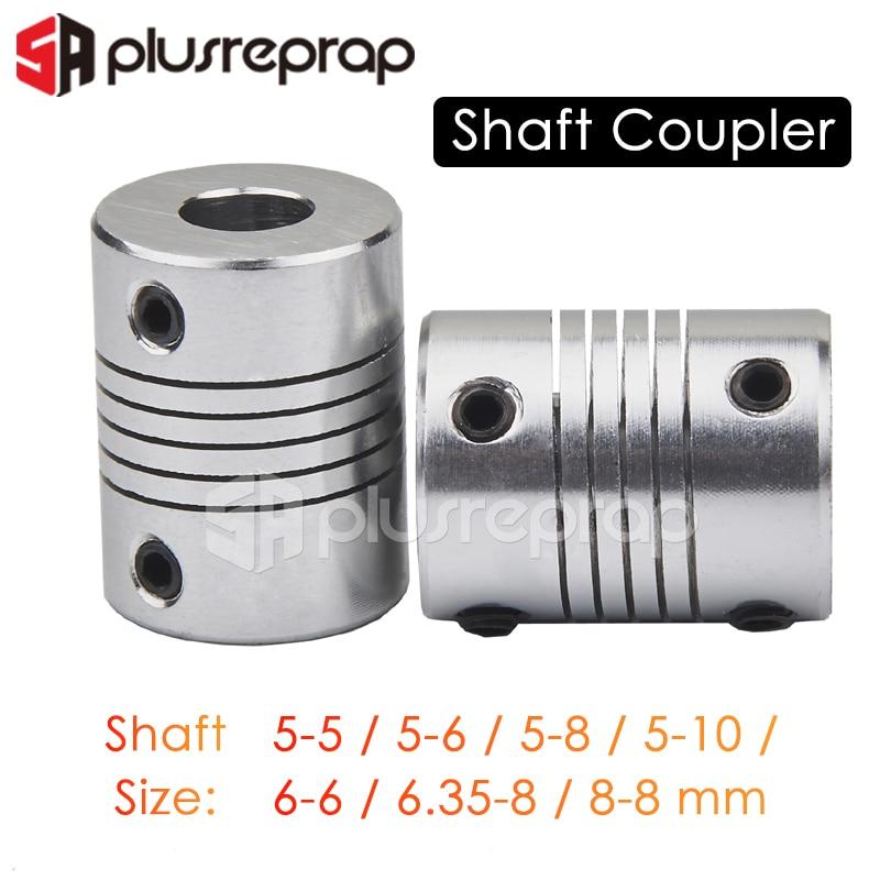 1/2/5PCS Coupling Coupler Shaft 5mm 6mm 6.35mm 8mm 10mm Motor Jaw Shaft Coupler with 4 Setscrews Stepper Motor 3D Printer