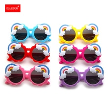 1PCs Kids Rainbow Round Frame Sunglasses Baby Girl Boy Goggles Toy Children Cartoon Glasses Outdoor