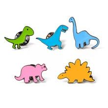 Fashion Women Girl Rainbow Enamel Lapel Cartoon Dinosaur   Brooches Badges Backpack Cute Pins Gifts