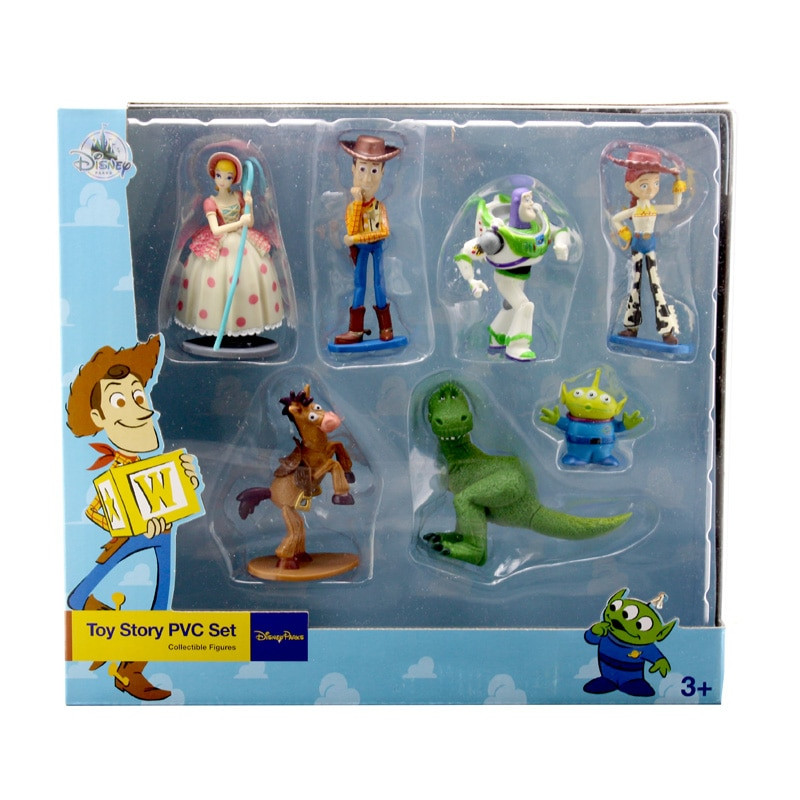 9 stücke Toy Story Buzz Lightyear Woody Jessie Dinosaurier Bullseye Pferd Little green men Action Figur Spielzeug Modell Puppen mit box