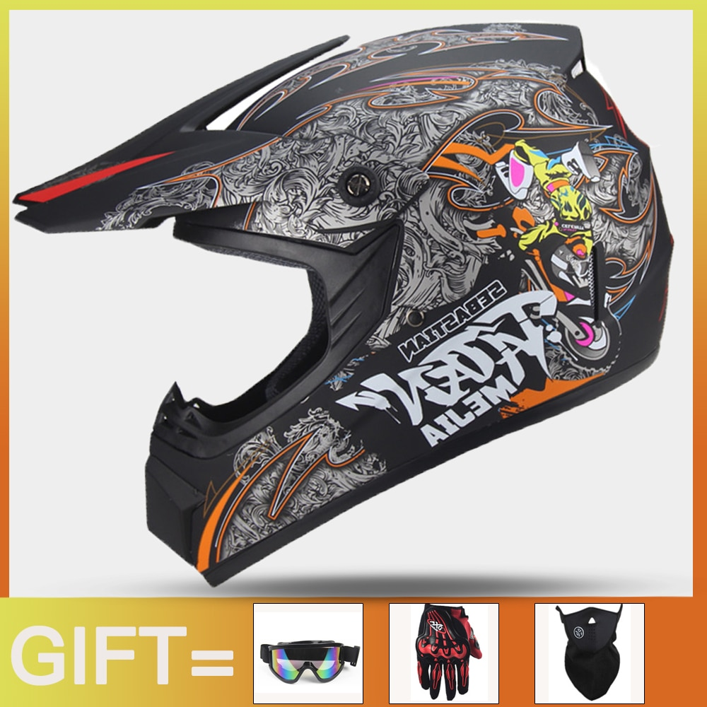 Casco profesional para Motocross, máscara completa para Moto de descenso, todoterreno, ATV