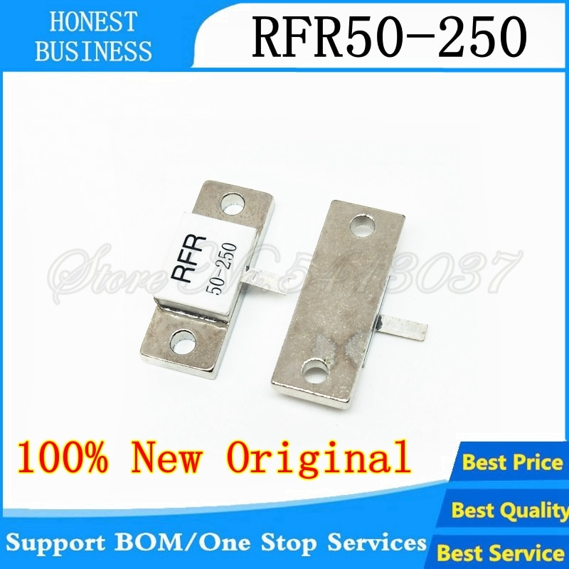 10 Uds maniquí resistencia de carga RFR-50-250 RFR 50-250 RFR50-250 250 W 50R 50 Ohms 250 vatios PIN único
