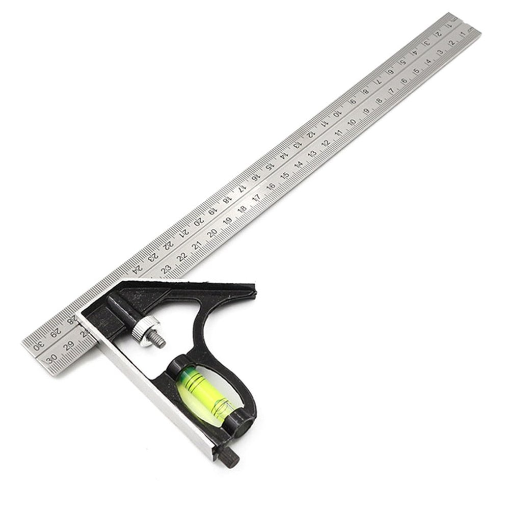 300mm Stainless Steel Caliper Square Ruler Adjustable Combination Angle Ruler Protractor Multi Carpenter Gauge Measuring Tools