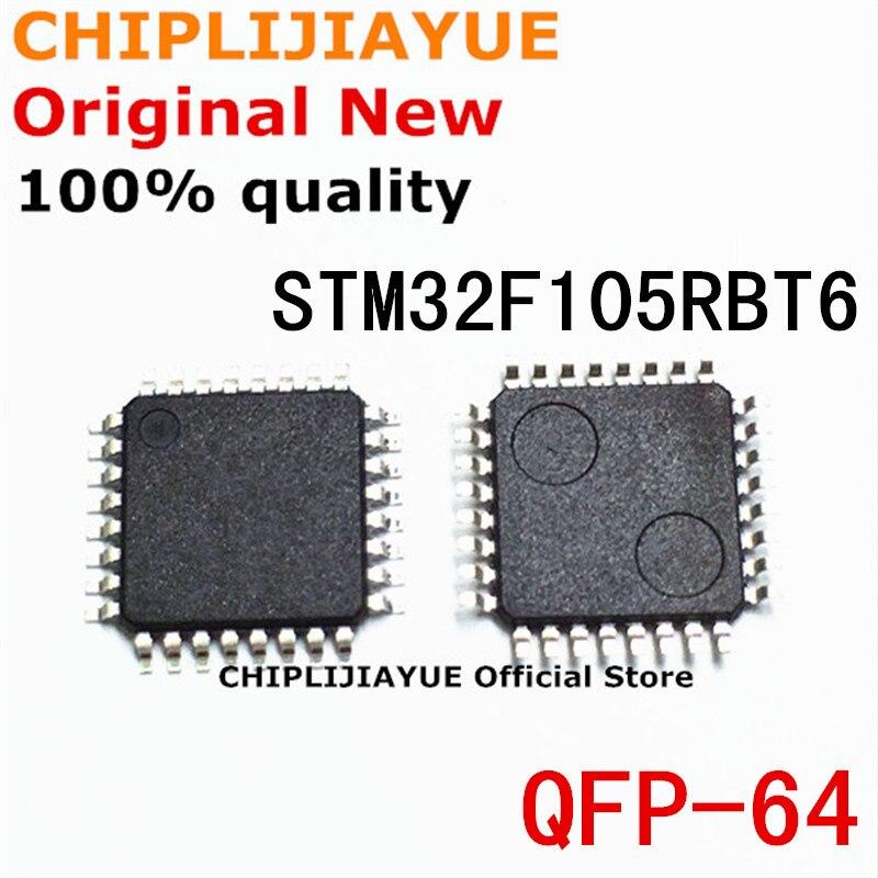 1 قطعة STM32F105RBT6 LQFP64 STM32F 105RBT6 STM32F105 RBT6 QFP-64 جديدة ومبتكرة IC شرائح