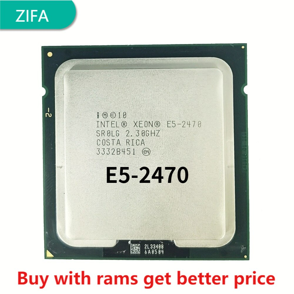 معالج Intel Xeon E5-2470 E5 2470 2.3 GHz ثماني النواة ستة عشر خيط وحدة المعالجة المركزية 20M 95W LGA 1356