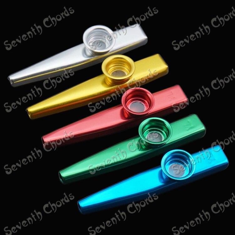 Metal kazoo ZuDi tarjeta ukelele guitarra acompañamiento boca flauta Armónica (plata y oro y azul y rojo y verde 5 colores elegir)
