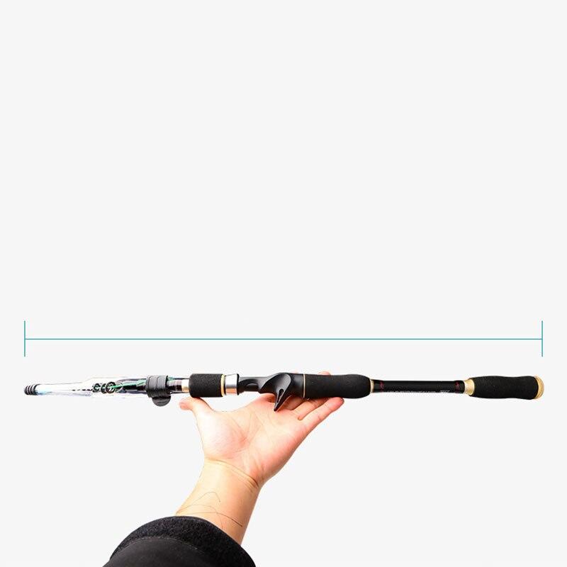 Deep Sea Foldable Fishing Rod Telescopic Extension Portable Carbon Fiber Ultralight Fishing Rod Travel Olta Entertainment HX50FR enlarge