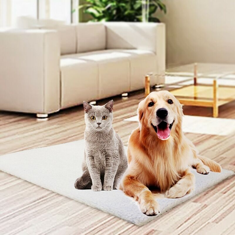 S/L perro gato estera de mascota almohadilla de cama de auto calentamiento suave alfombra caliente térmica lavable hogar auto-calentamiento cojín para cama de mascotas almohadilla suave y acogedor Mat