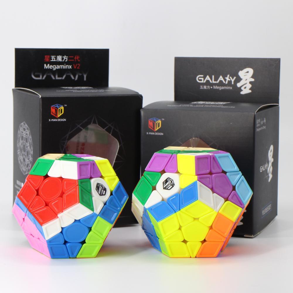 Qiyi mofangge x-man galaxy wumofang escultura v1 v2 stickerless cubo mágico profissional velocidade quebra-cabeça wca campeão brinquedo