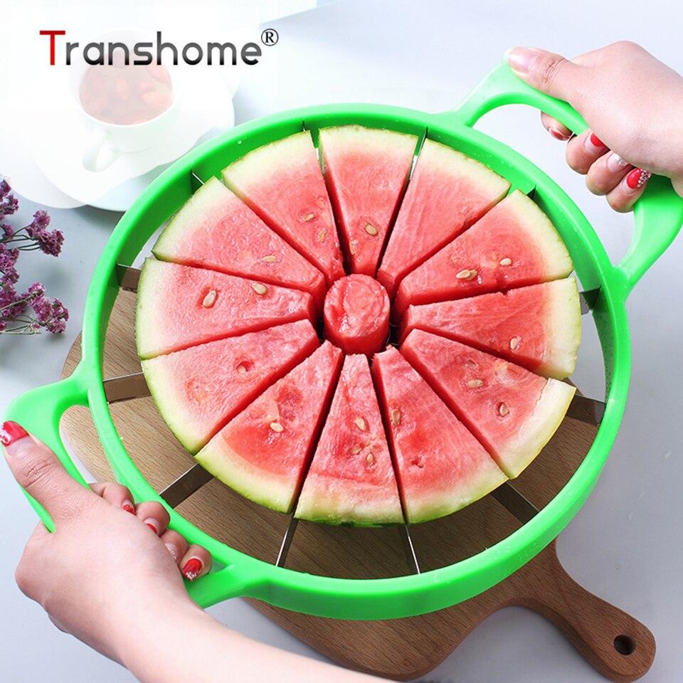 transhome melancia slicer cortador de aco inoxidavel tamanho grande fatiado melancia