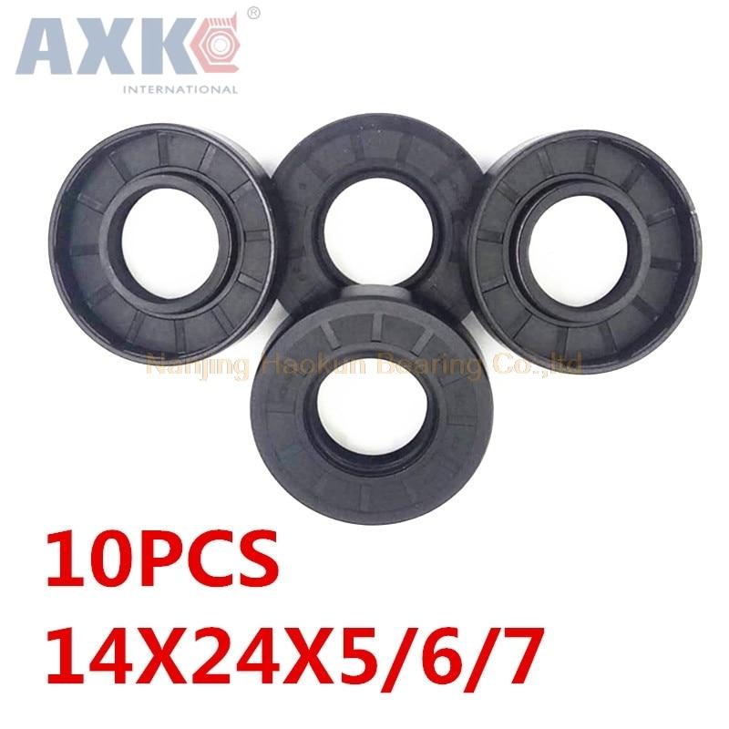 AXK 10pcs  TC 14x24x5 14x24x6 14x24x7  14x24 Skeleton Oil Seals 14*24*5 14*24*7  high-quality Seals Radial shaft seals 10pcs axk 25x47x7 tc25x47x7 nbr skeleton oil seal 25 47 7 seals axk high quality seals radial shaft seals nitrile rubber