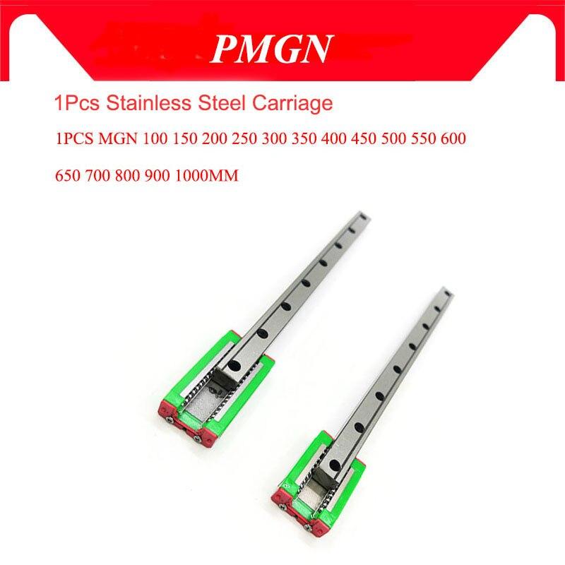 MGN9 9 milímetros Guia Linear L = 100 200 300 350 400 450 500 550 600 700 800 milímetros Linear Rail Way + MGN9C ou SS MGN9H Longo Linear Carriage
