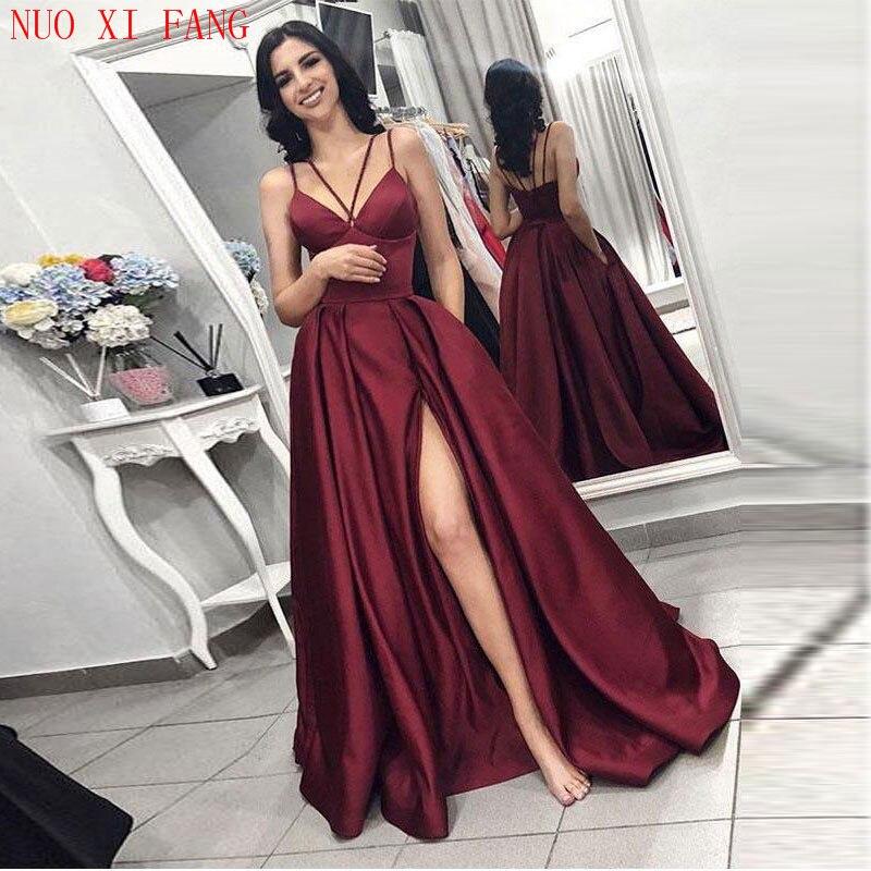 NUOXIFANG 2020 Fiesta Vestidos de Noche vestido de novia de sirena hendidura...