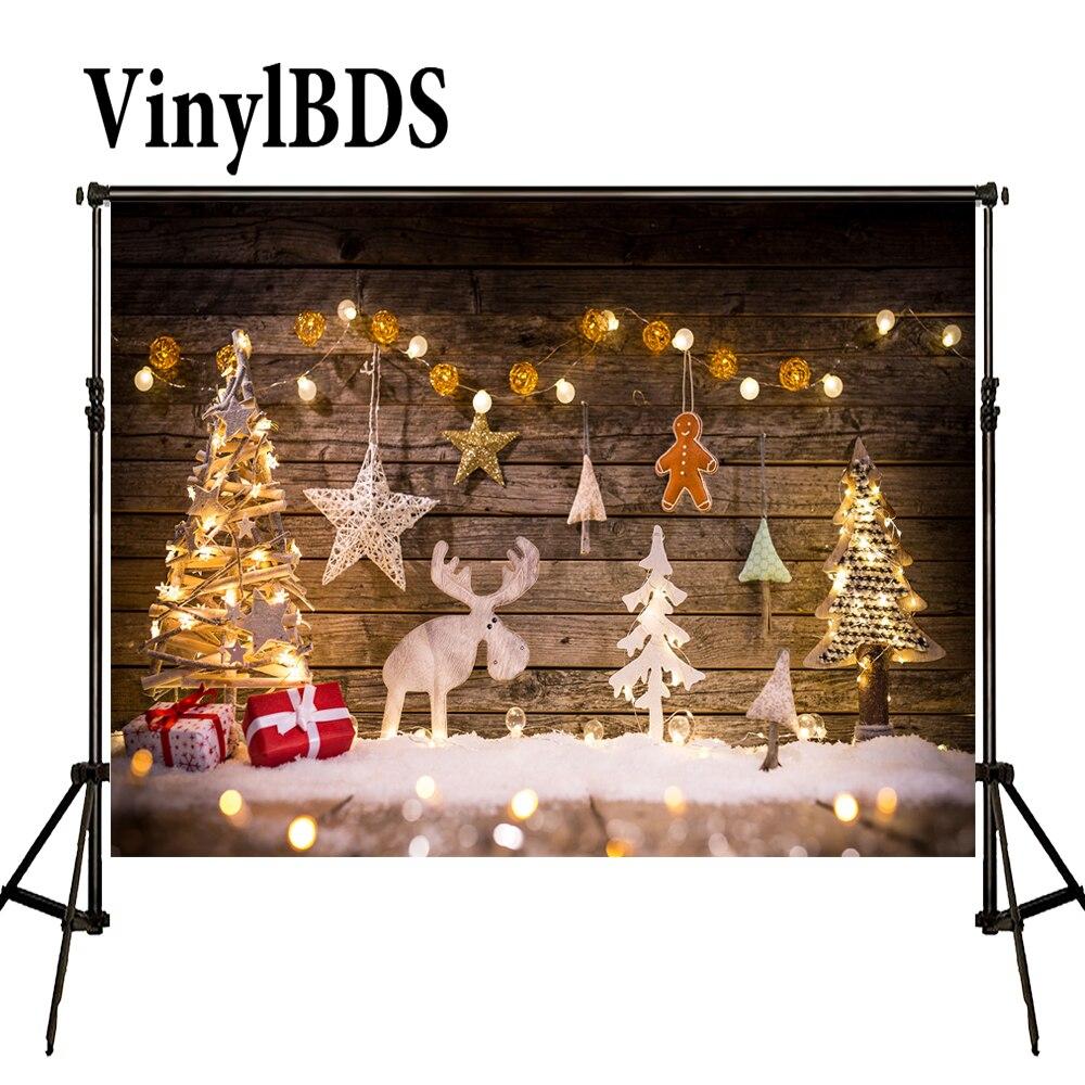 VinylBDS-Fondo De fotografía panorámica, Arbol De Navidad, Madera, fondo con suelo De...