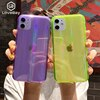 Lovebayファッションレーザーパターン半透明ケースiphone 11 プロマックスxr xs max x 7 8 プラスse 2020 ソフトtpu蛍光カバー新