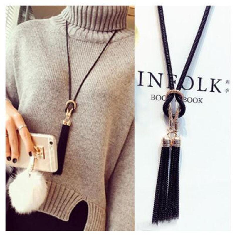 AliExpress - 2019 New Arrival Female Pendant Necklace Tassel Long Winter Sweater Chain Necklace Women Necklaces Wholesale Sales