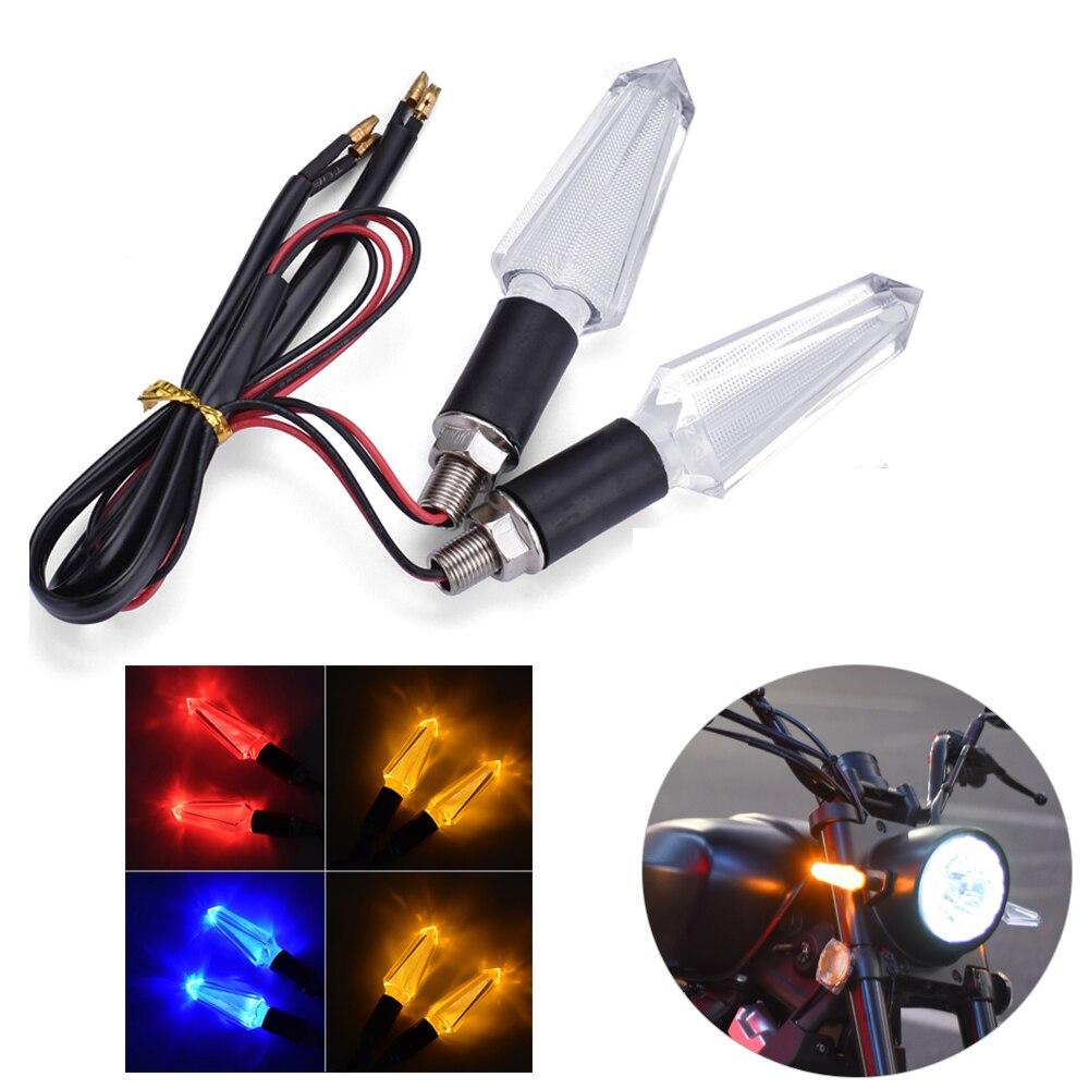 Luces de señal de giro para motocicleta indicador transparente LED Flasher para...