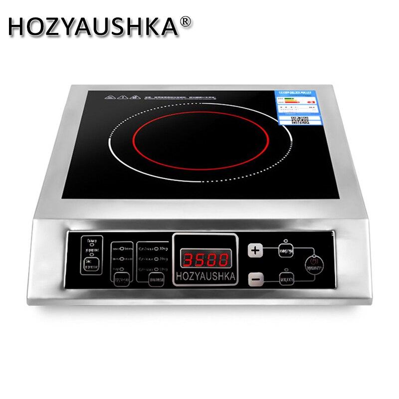 Бытовая и промышленная индукционная плита из нержавеющей стали с функциями высокая мощность 3500 Вт, приготовление супа, жарение|Индукционные плиты|   | АлиЭкспресс