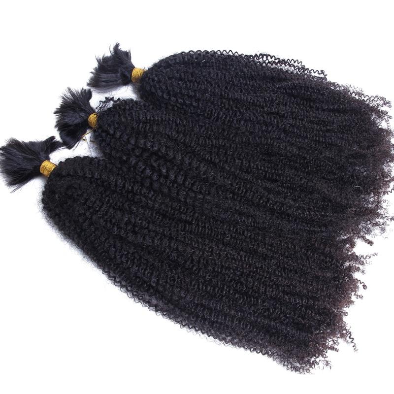 1/2/3 пряди не прядкой из человеческих волос оптом, на крючках, косички, африканские Курчавые Кудрявые бразильские человеческие волосы оптом ...