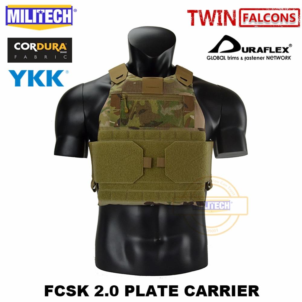 MILITECH FCSK 2.0-حامل لوحة Slickster ، سترة عسكرية قتالية تكتيكية ، حامل درع للجسم للشرطة لـ 10x1 2/SAPI/ESAPI