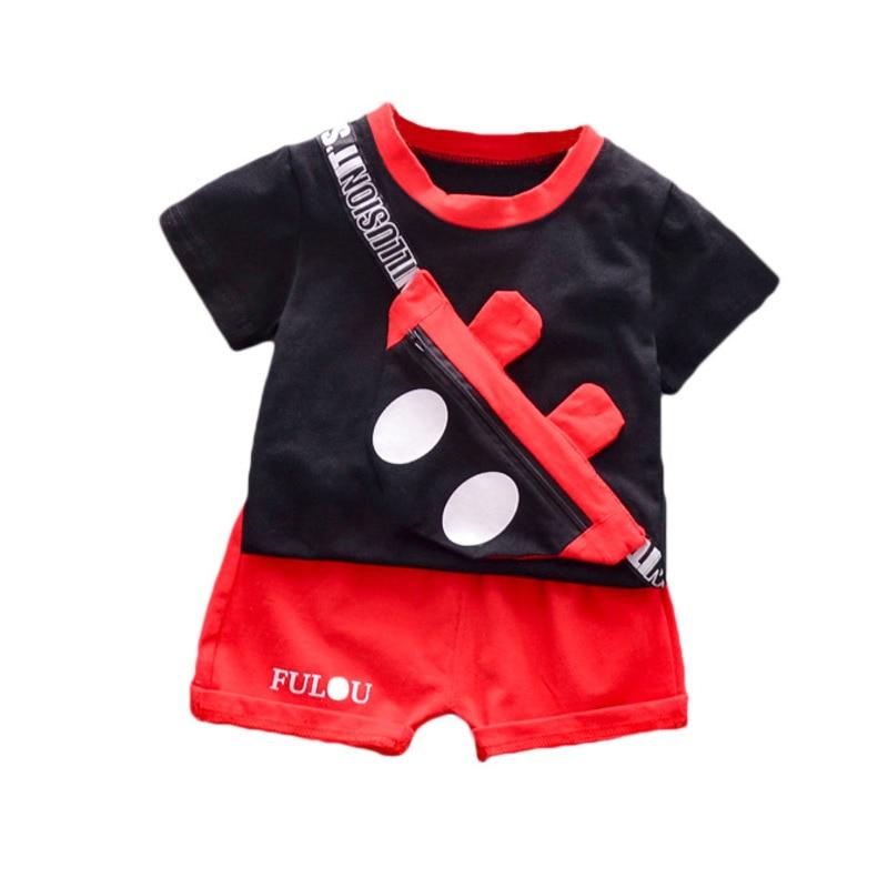 Nueva moda de verano, ropa para bebés y niñas, Camiseta de algodón para niños, pantalones cortos, 2 unids/set, disfraz Casual para niños pequeños, chándales para niños