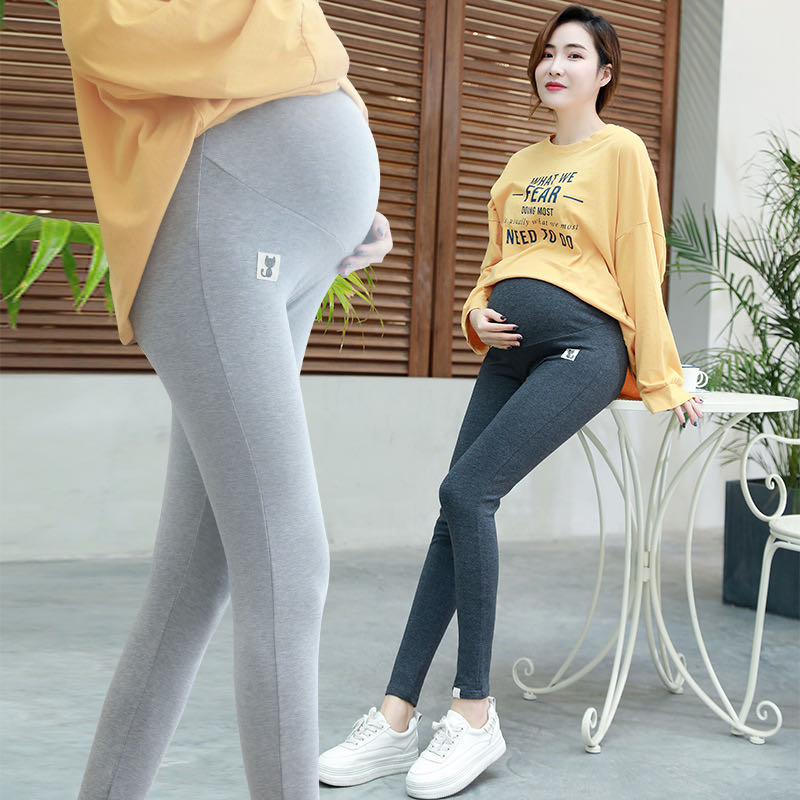 Pantalons Leggings pour femmes enceintes   Vêtements de printemps et dautomne pour la maternité, taille réglable, modèles 2020 naturels