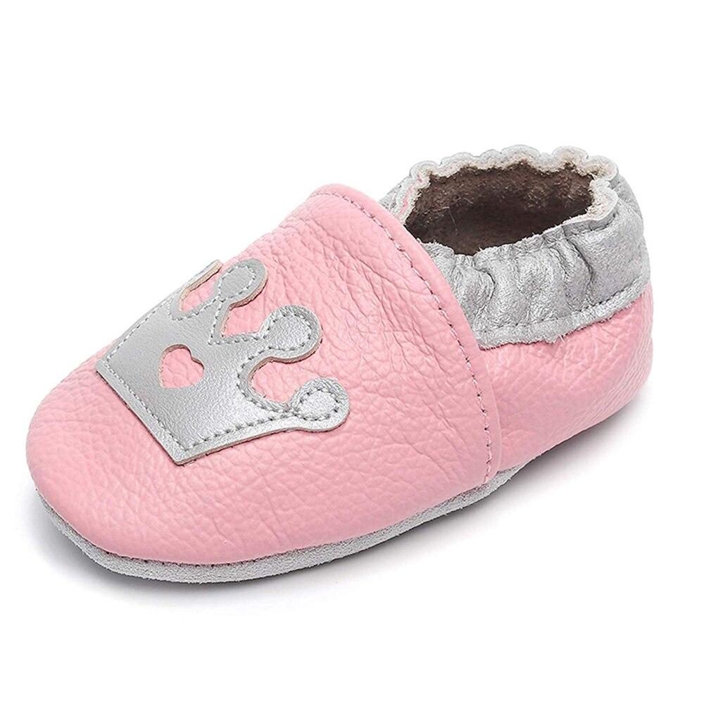 Gsch bebê meninas meninos sapatos da criança sola macia primeiro walker berço babys sapatos de caminhada de couro mocassins para a criança infantil chinelos