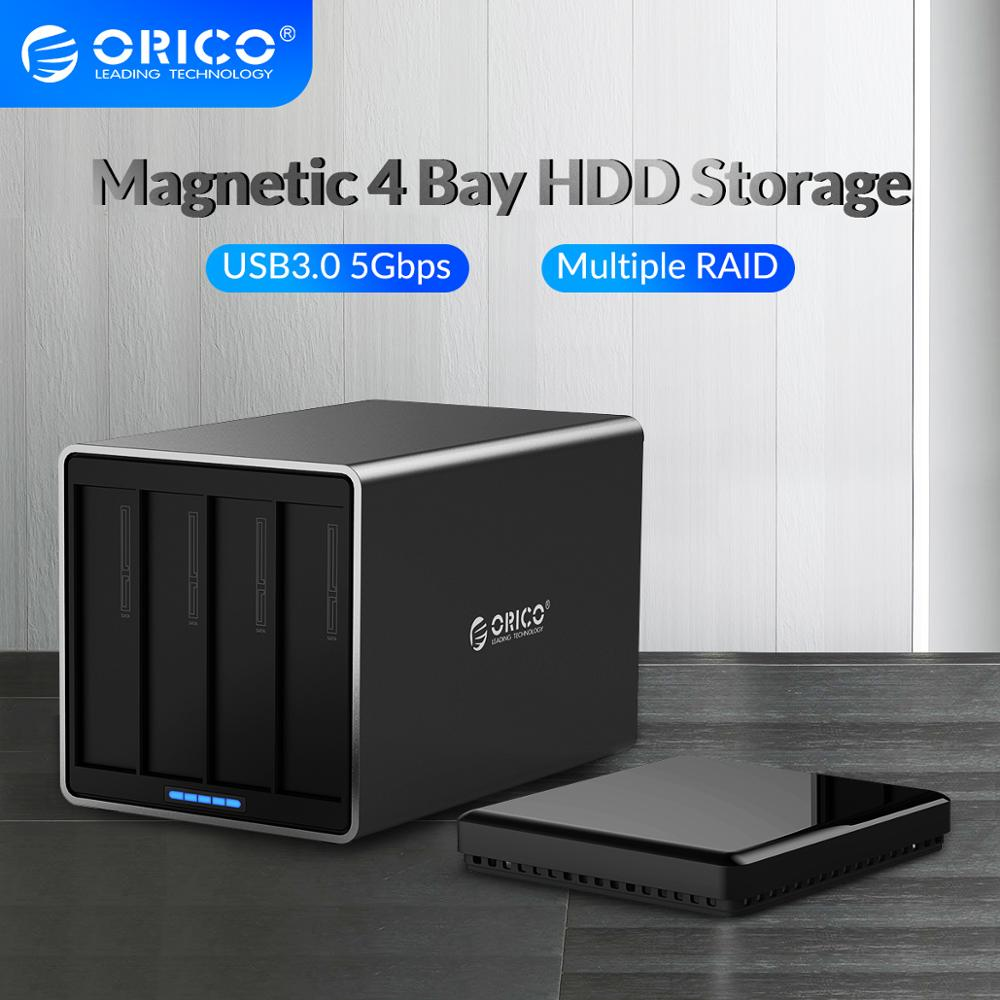 ORICO NS Series 4 Bay 3.5 inch USB3.0 with RAID HDD Docking Station 78W Power Adapter 5Gbps HDD Enclosure Support 64TB HDD Case