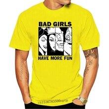 Grappige Mannen T-shirt Vrouwen Nieuwigheid Tshirt Schurken Slechte Meisjes T-shirt T-shirt