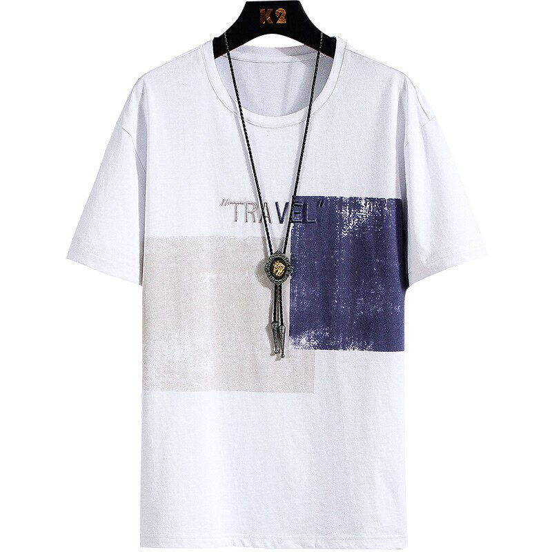 Camiseta de manga corta para hombre, novedad de verano, Camiseta de algodón puro, cuello redondo, tendencia de estilo de Hong Kong, Camiseta básica ajustada para estudiantes, Me