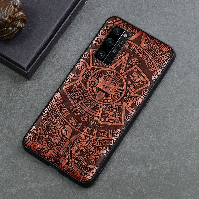 Funda de teléfono de madera auténtica para Huawei Honor 30S, carcasa de madera a prueba de golpes Honor 30 Pro, Funda de silicona para Huawei Honor 30