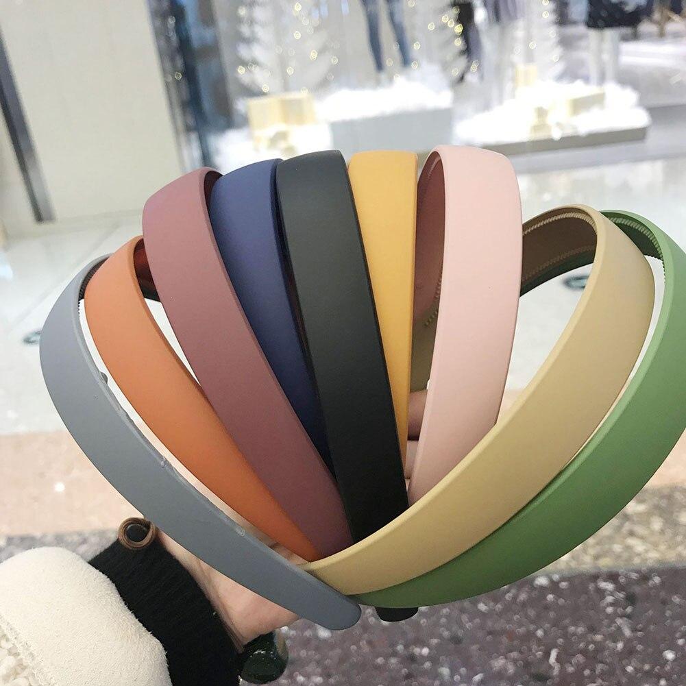 Diadema ancha antideslizante de estilo sencillo de Corea para mujeres y niñas, diadema colorida, soporte para flequillos de pelo, accesorios para el cabello de moda