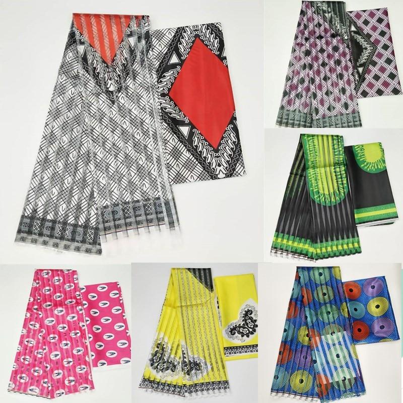 Горячая Распродажа, атласная шелковая ткань Gahna с лентой из органзы, африканский дизайн воска! J71401