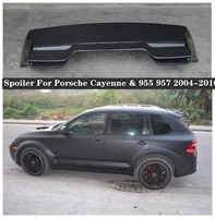 high quality carbon fiber car rear trunk lip spoiler wing fits for porsche cayenne 955 957 gts style 2004 2010