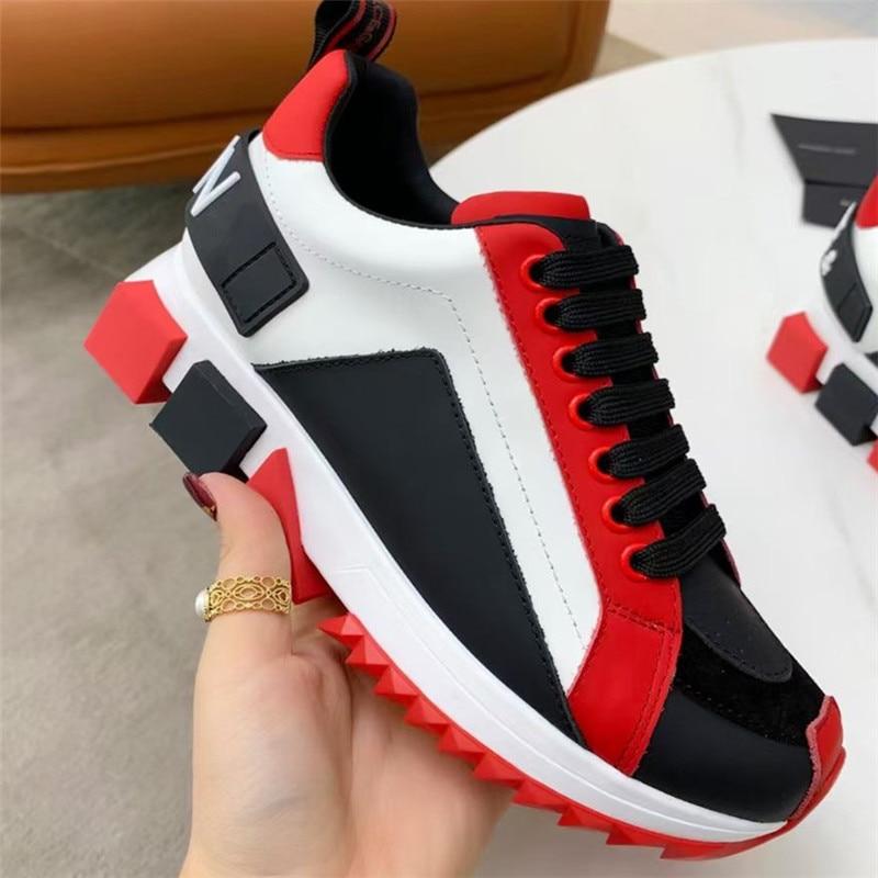 جديد شعبية نمط زوجين احذية الجري أحذية رياضية من الجلد الفاخرة العلامة التجارية مصمم أحذية رياضية كاجوال حجم 35-46