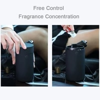 Diffuseur ultrasonique darome pour le bureau de voiture humidificateur dair dhuile essentielle aromatherapie a la maison USB Nano fabricant de brume fraiche