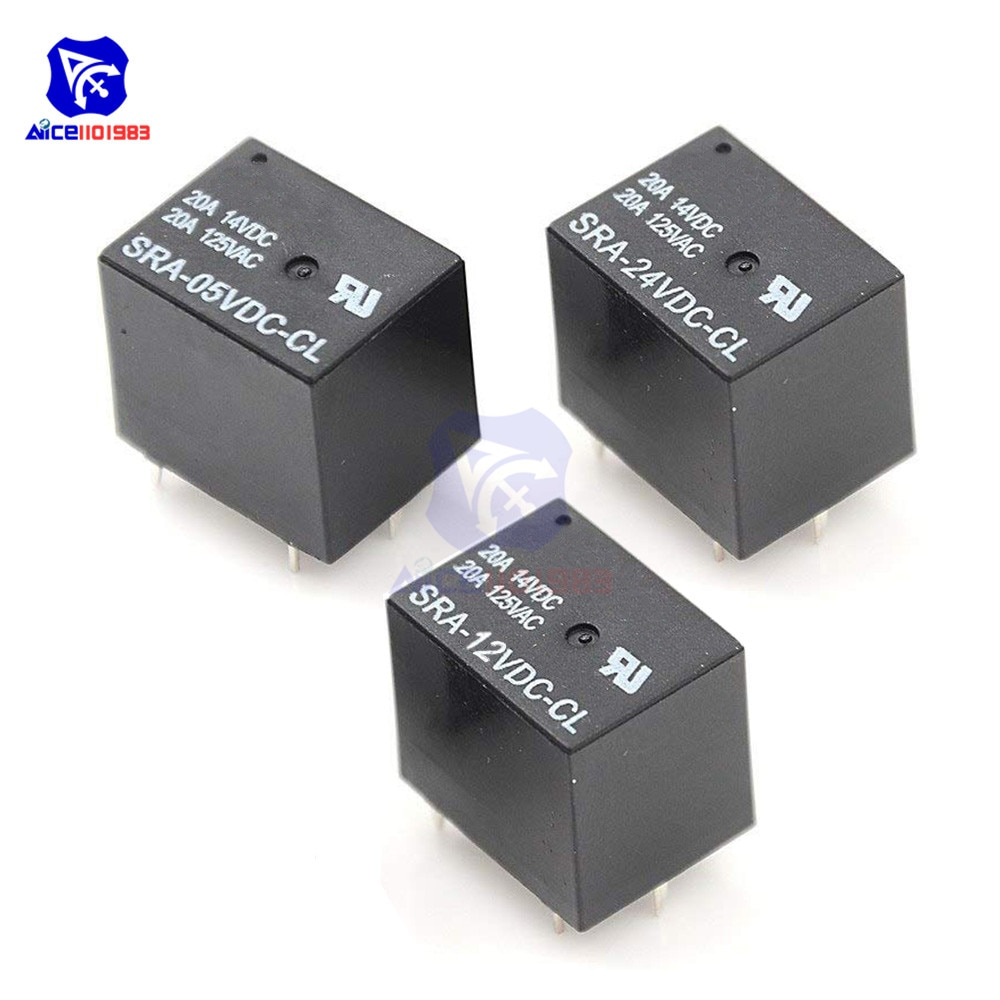 5V 12V 24V 20A DC Power Relais SRA-05VDC-CL SRA-12VDC-CL SRA-24VDC-CL 5Pin PCB Typ für Arduino
