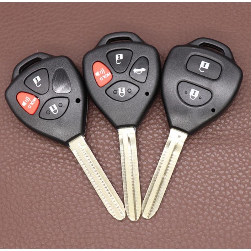 Carcasa de llave a distancia de coche DAKATU 2/4 botones + 1 con 3/3, carcasa de repuesto para Toyota Camry Avalon, Corolla Matrix RAV4 Venza