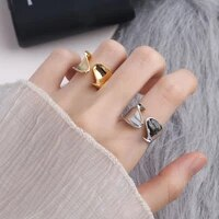 vjgyho 925 sterling silver simplicity personality hip hop rings for women irregularities ring aestethic fashion jewelry gift
