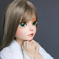 hd01 hidolls quality handmade female girl resin half head cosplay japanese role play bjd kigurumi mask crossdresser doll mask